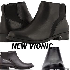 VIONIC NEW COUNTRY THATCHER BLACK BOOTS SIZE 6